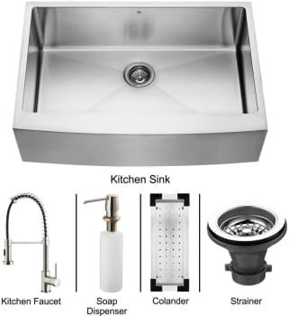 Vigo Industries Platinum Collection VG15102 - Stainless Steel Farmhouse Kitchen Sink