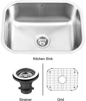 Vigo Industries Kitchen Sink Collection VG2318K1 - Undermount Stainless Steel Kitchen Sink