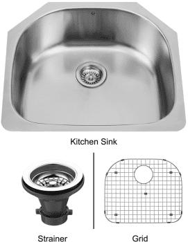 Vigo Industries Kitchen Sink Collection VG2421K1 - Undermount Stainless Steel Kitchen Sink