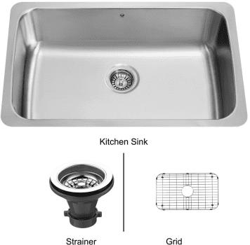 Vigo Industries Kitchen Sink Collection VG3019CK1 - Undermount Stainless Steel Kitchen Sink