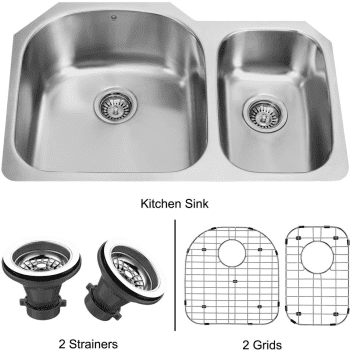 Vigo Industries Kitchen Sink Collection VG3121LK1 - Undermount Stainless Steel Kitchen Sink