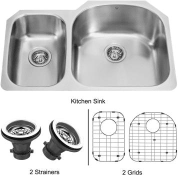 Vigo Industries Kitchen Sink Collection VG3121RK1 - Undermount Stainless Steel Kitchen Sink