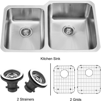 Vigo Industries Kitchen Sink Collection VG3221RK1 - Undermount Stainless Steel Kitchen Sink