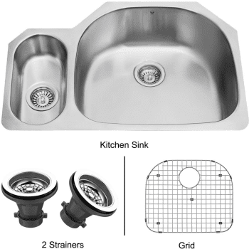 Vigo Industries Kitchen Sink Collection VG3321RK1 - Undermount Stainless Steel Kitchen Sink