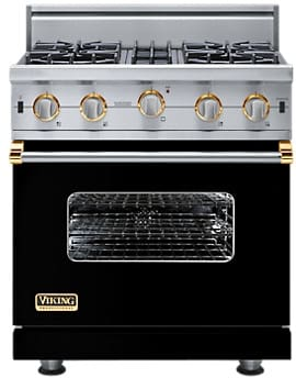 Viking Professional Custom Series VGIC5304BBKBR - Black with Brass Accent