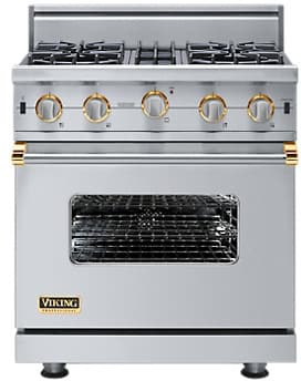 Viking Professional Custom Series VGIC5304BSSBR - Stainless Steel with Brass Accent