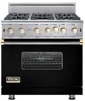 Viking Professional Custom Series VGIC5366BBKBR - Black with Brass Accent