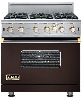 Viking Professional Custom Series VGIC5366BBR - Custom Colors with Brass Accent