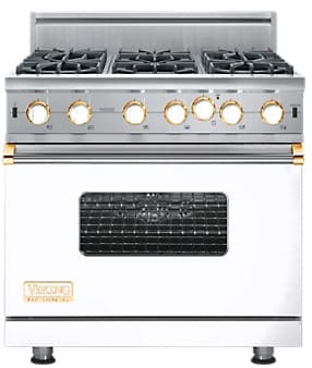 Viking Professional Custom Series VGIC5366BWHBR - White with Brass Accent