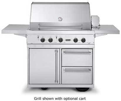 Viking Vgiq4103rtl 41 Inch Built In Gas Grill With 836 Sq In Cooking Surface Stainless Steel Grill Burner Grill Smoker Burner Gourmet Glo Infrared Rotisserie Trusear Infrared And Push Button Electronic Ignition Liquid Propane