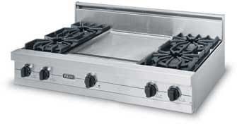 Viking Professional Series VGRT4214GSS - Featured View with Optional Backguard