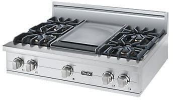 "Viking Professional Custom Series VGRT5364GSS - 36"" Sealed Burner Rangetop"