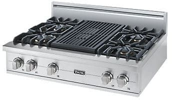 "Viking Professional Custom Series VGRT5364QSS - 36"" Sealed Burner Rangetop"