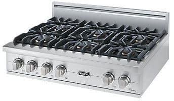 "Viking Professional Custom Series VGRT5366BSS - 36"" Sealed Burner Rangetop"