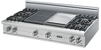 "Viking Professional Custom Series VGRT5484GQSS - 48"" Sealed Burner Rangetop"