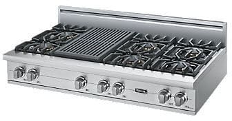 "Viking Professional Custom Series VGRT5486QSS - 48"" Sealed Burner Rangetop"