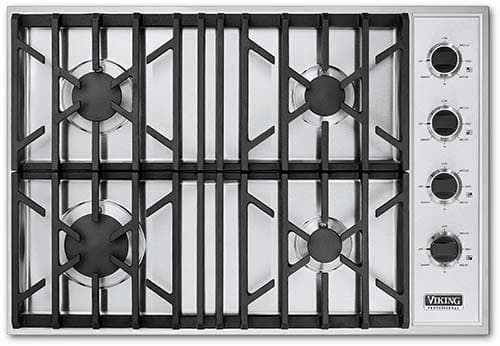 Viking Vgsu1024bss 30 Inch Gas Cooktop With 4 Sealed Burners