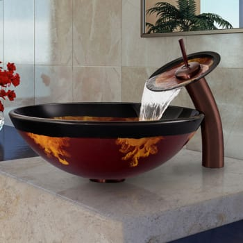 Vigo Industries Vessel Sink Collection VGT003RBRND - Featured View