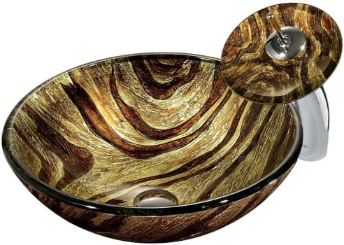 Vigo Industries VGT028 - Zebra Glass Vessel Sink