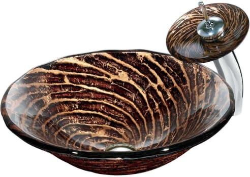 Vigo Industries VGT029 - Caramel Glass Vessel Sink