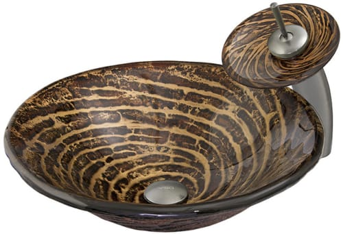 Vigo Industries Vessel Sink Collection VGT029BNRND - Chocolate Caramel Swirl