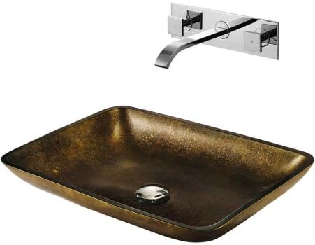 Vigo Industries Vessel Sink Collection VGT112 - Copper Glass Vessel Sink