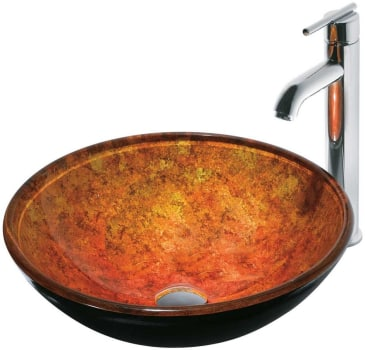 Vigo Industries Vessel Sink Collection VGT114 - Livorno Glass Vessel Sink