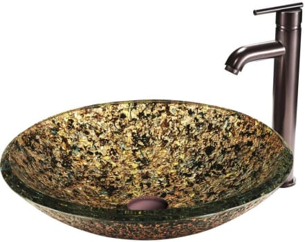 Vigo Industries Vessel Sink Collection VGT119 - Triton Glass Vessel Sink