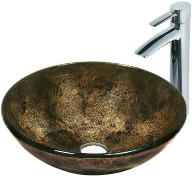 Vigo Industries Vessel Sink Collection VGT122 - Sintra Glass Vessel Sink