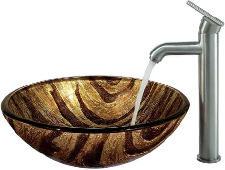 Vigo Industries Vessel Sink Collection VGT161 - Brushed Nickel Finish Faucet
