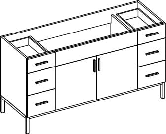 Empire Industries Daytona Collection WDS6026POS - Product Drawing