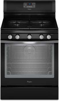 Whirlpool WFG540H0AE - Black with Silver Handle