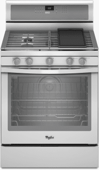 Whirlpool Gold White Ice WFG710H0AH - White with Silver Handle