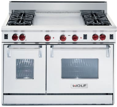 Wolf R484dg 48 Inch Pro Style Gas Range With 4 Dual Br