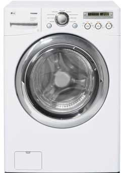 Lg Wm2455hw 27 Inch Front Load Washer With 4 2 Cu Ft Capacity 9 Wash Programs 5 Temperature Levels Senseclean System And 1200 Rpm Spin Speed White