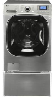 LG SteamWasher Series WM3875H - Graphite Steel with Optional Pedestal