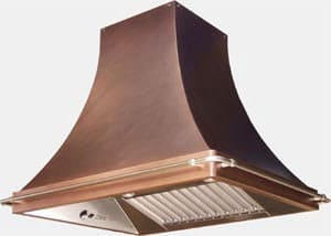 RangeCraft CMHR_CURVETTE - Antique Copper with Optional Pot Rails