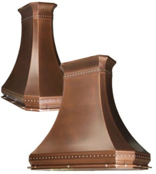 RangeCraft CM_ROCOCOROYALE - Antique Copper with Optional Pot Rails