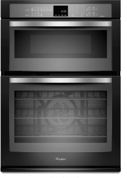 Whirlpool WOC95EC0AE - Black with Silver Handle