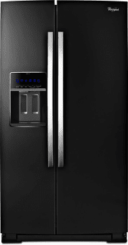 Whirlpool Black Ice WRS965CIAE - Black with Silver Handle