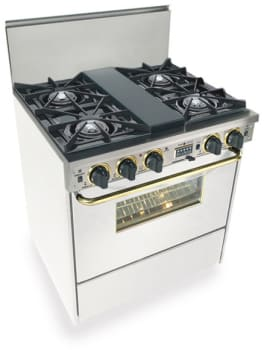 FiveStar WTN275SW - White with Brass Trim