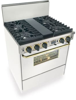 FiveStar WPN287SW - White with Brass Trim