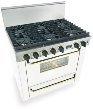 FiveStar WTN3117SW - White with Brass Trim