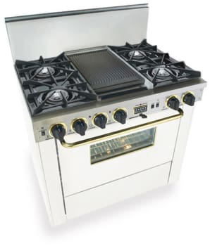 FiveStar WTN3257SW - White with Brass Trim