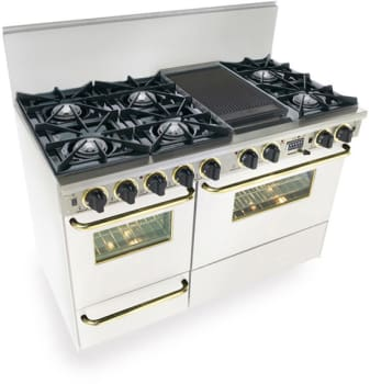 FiveStar WTN5257SW - White with Brass Trim