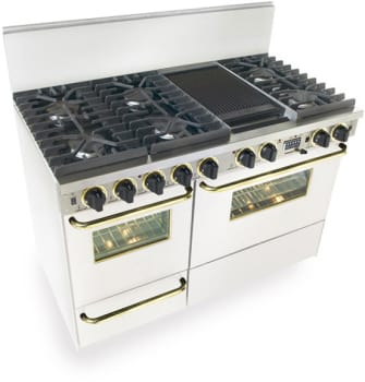 FiveStar WTN5377SW - White with Brass Trim