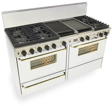 FiveStar WTN6377SW - White with Brass Trim