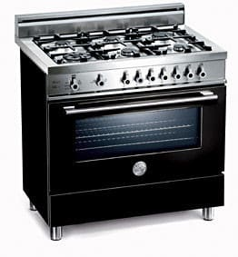 Bertazzoni Professional Series X365PIRNE - Nero / Black of 6 Burners Model (Not Exact Image)