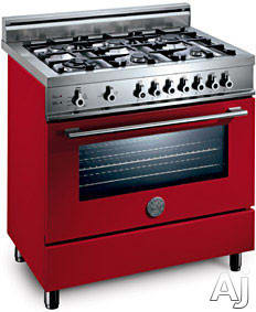Bertazzoni Professional Series X365GGVRO - Rosso / Red Of 6 Burner Model