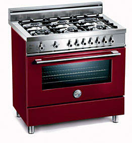 Bertazzoni Professional Series X365PIRVI - Vino / Burgundy of 6 Burners Model (Not Exact Image)